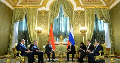 Путин с королем Мароко
