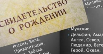 В Церкви поддерживают запрет на нелепые имена в России